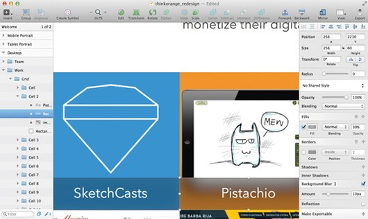 desenfoque en sketch