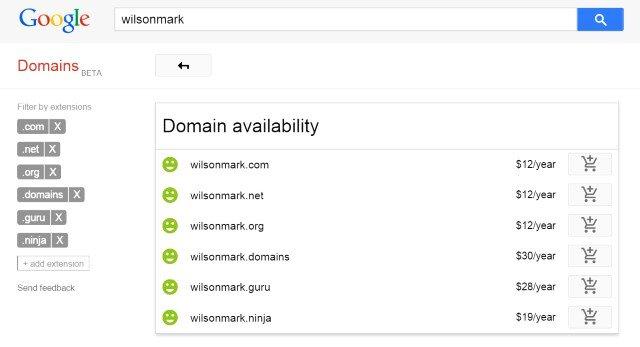 dominios en google