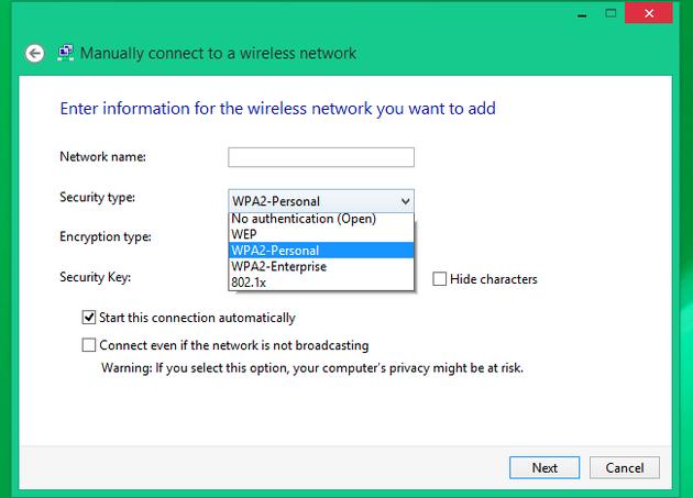 elegir cifrado router