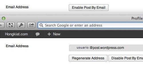 email unico para publicar