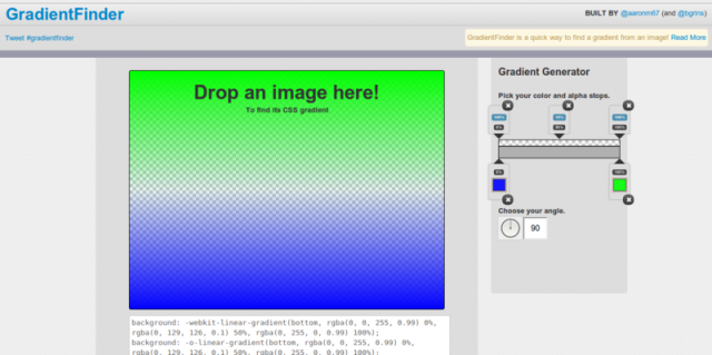 encontrar colores gradientes de imagen