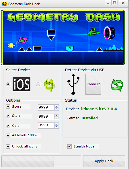 geometry dash tool hack