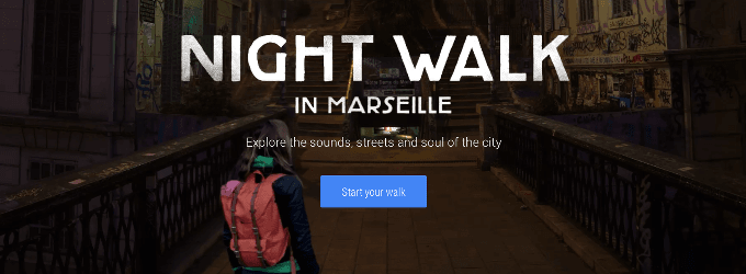 Visita Marseille De Noche Usando Google Night Walk
