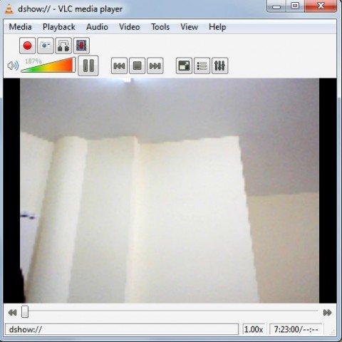 grabar con la webcam y vlc