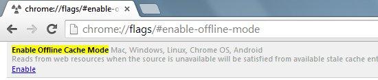 habilitar cache google chrome
