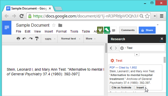 herramienta de investigacion google docs