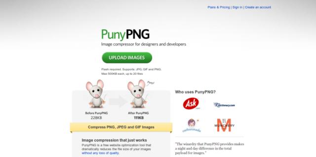 herramienta para compresion de imagen diseñadores y desarrolladores