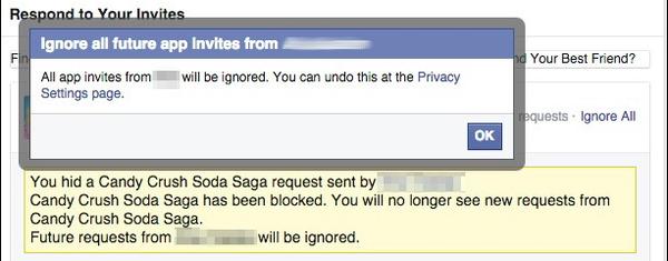 ignorar peticiones amigo