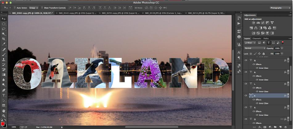imagenes en letras efecto photoshop varias