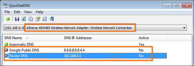 informacion dns en windows