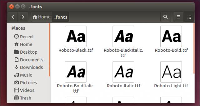 instalacion manual tipografia linux