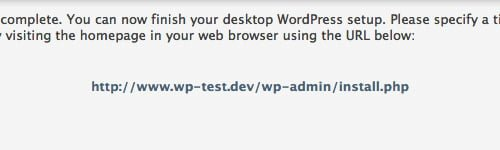 instalacion wordpress completada