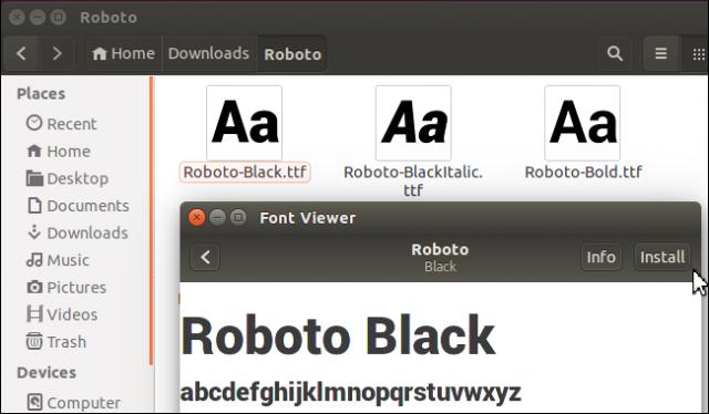 instalar tipografia en linux