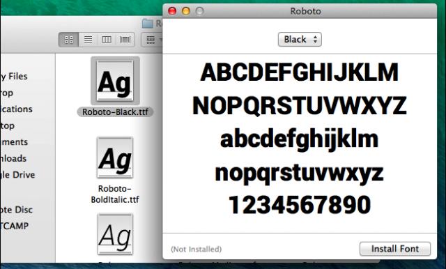 instalar tipografia en mac os x