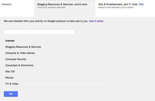 intereses google