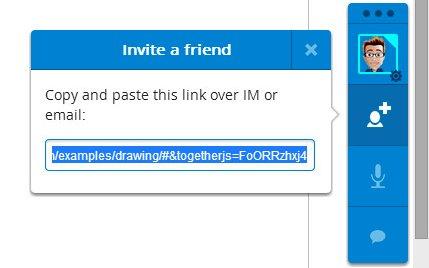 invitar a un amigo entorno colaboracion togethejs