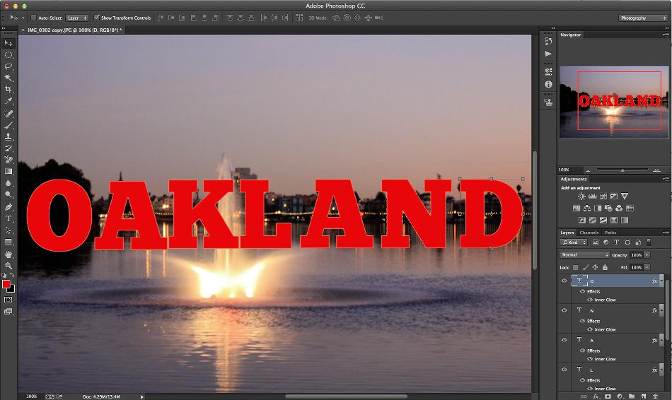 letras palabra efecto texto photoshop