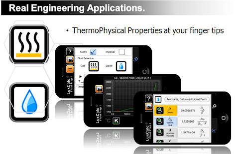 luxcalc fluidprop app smartphone para ingenieros
