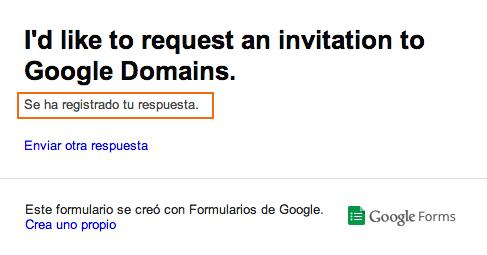 mensaje google domains