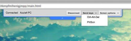 menu chrome remote desktop