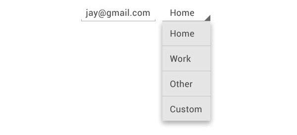 menu desplegable android patroon de diseño