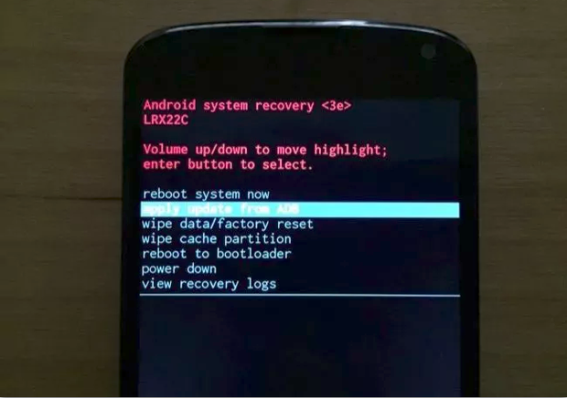 menu flashear rom android