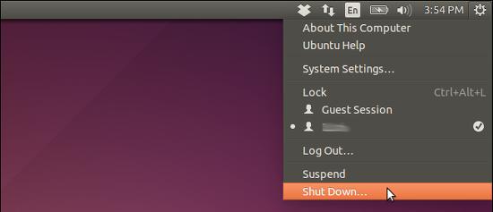 menu opciones de apagado reinicio ubuntu 14.04