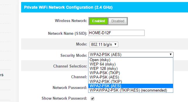 metodos de cifrado red wifi