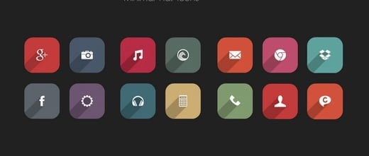 minimal flat icons Android