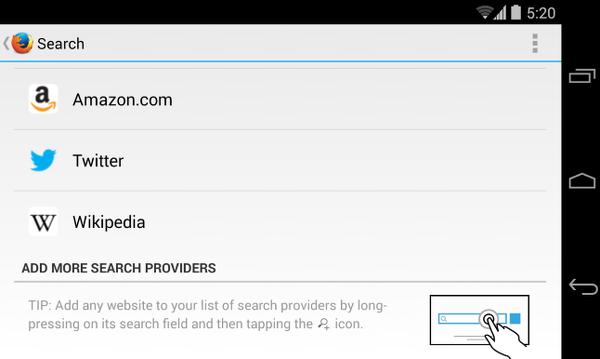 modificar buscador predeterminado android