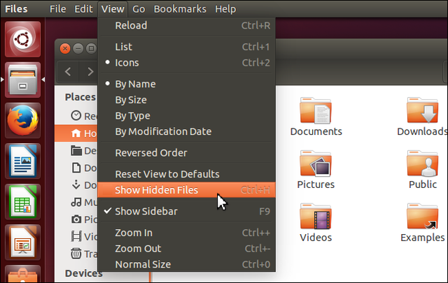 mostrar carpetas ocultas en ubuntu