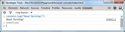 mostrar datos en la consola de google chrome