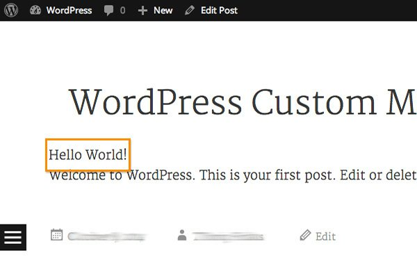 mostrar valor dato personalizado en wordpress