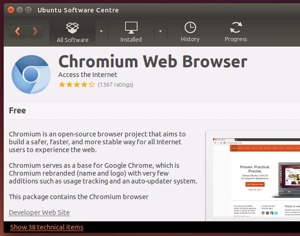 navegador web ubuntu