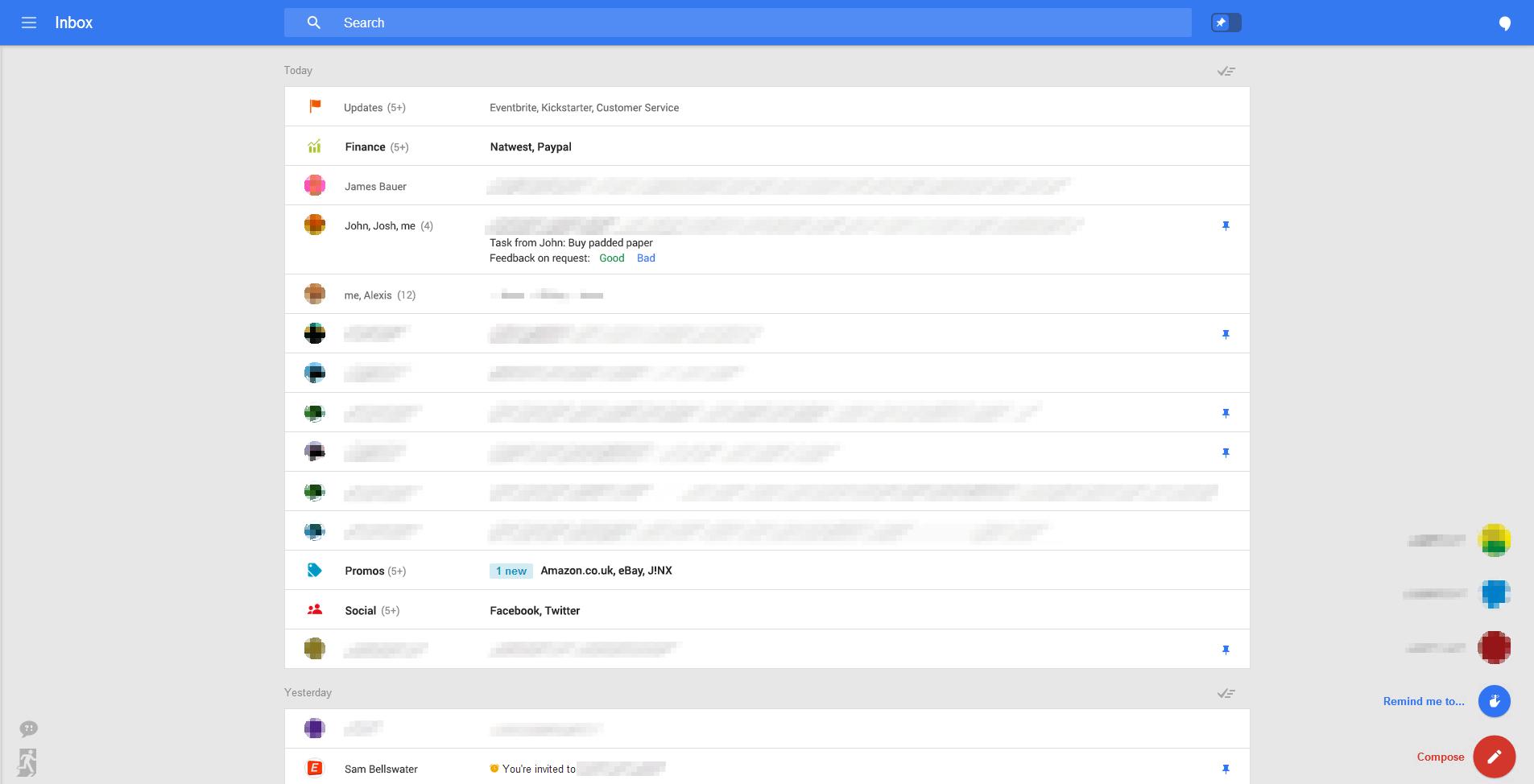 nuevo diseño intefaz gmail