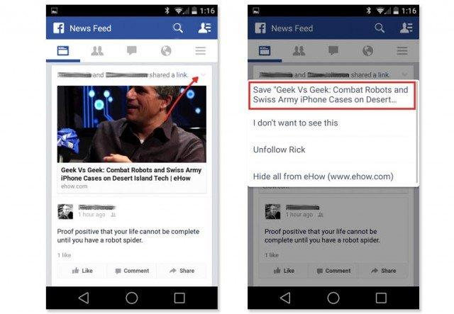 opcion almacenar informacion facebook