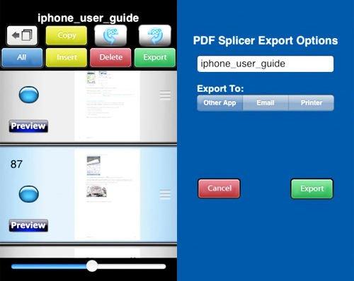 pdf splicer para ios