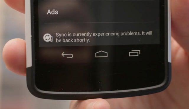 problema de sincronizacion en android