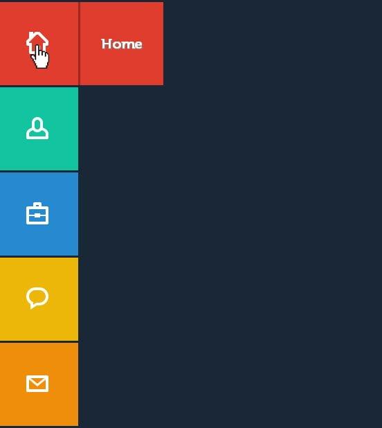 producto final menu emergente CSS3