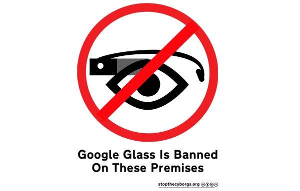 prohibicion google glass
