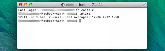 promedio de carga en mac