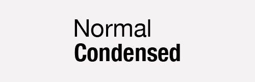 propiedad css normal condensed