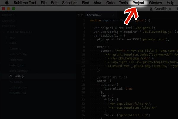 proyecto en sublime text