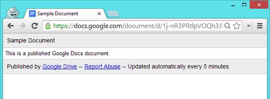 publicar documento con google docs
