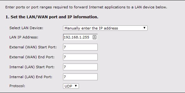 redireccion de puertos wake on lan