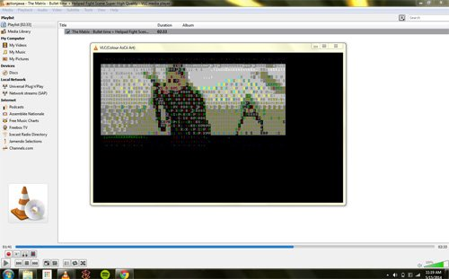 reproducir un video como si fueran letras con VLC