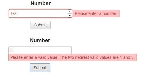 resultado validacion formulario