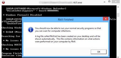 rkill para virus pc