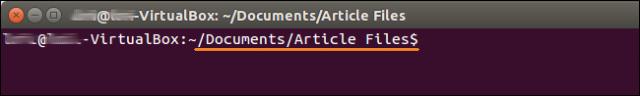 ruta de explorador de archivos en terminal