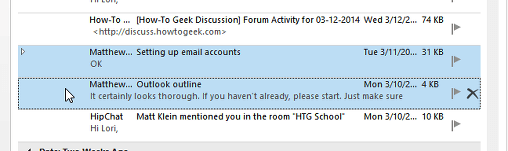 seleccionando emails
